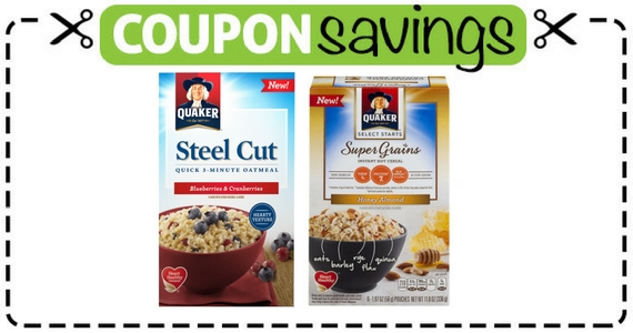 Save 50¢ Off Quaker Cereal Or Oatmeal