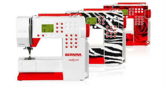 Win 1 of 5 Bernina Simply Red Sewing Machines