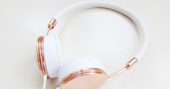 Win 1 of 5 FRENDS Layla Rose Gold Headphones