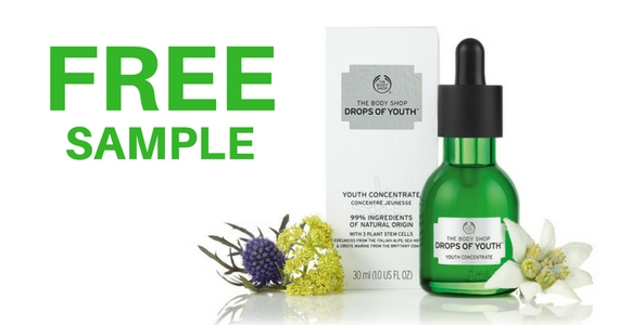 Free Drops of Youth Sample from The Body Shop