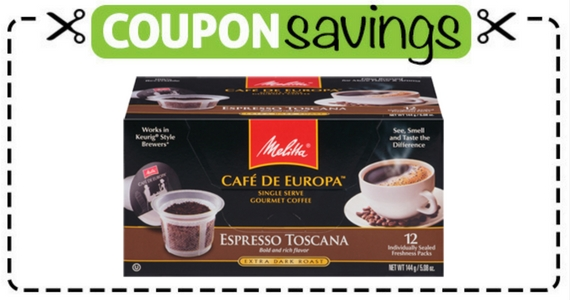 Save $10.50 on Melitta Coffee Products