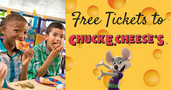 50 Free Chuck E. Cheese Tickets