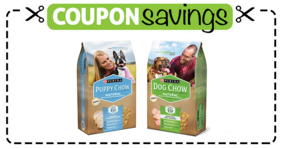 Save $4 on Dog Chow Natural Dry Dog Food