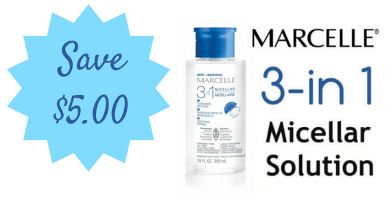 Save $5 on Marcelle 3-in-1 Micellar Solution