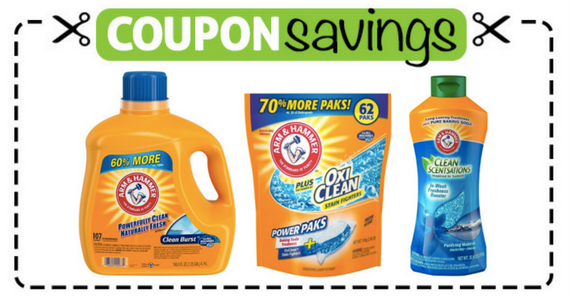 Save 75¢ on Arm & Hammer Laundry Detergent