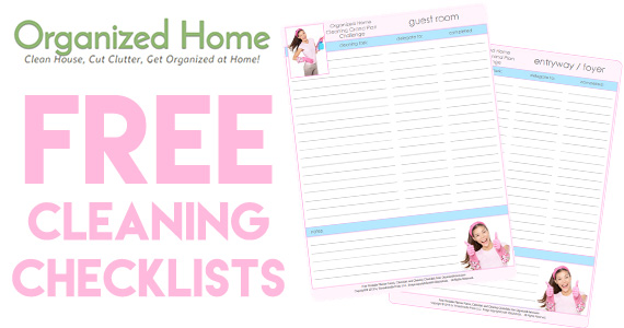 Free Printable Cleaning Checklists