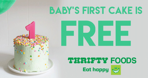 Free Cake For Baby's First Birthday