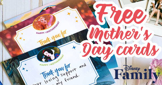 Free Disney Princess Mother's Day Cards