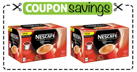 Save $2 off NESCAFE Sweet & Creamy K-Cups