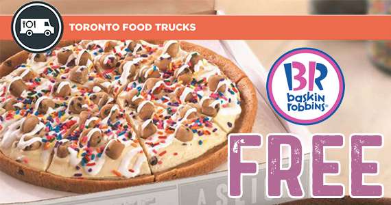Free Slice of Ice Cream Pizza