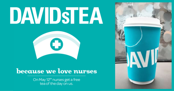 Free Cup of Tea From David's Tea For Nurses