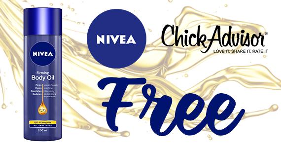 ChickAdvisor – Free Nivea Firming Body Oil
