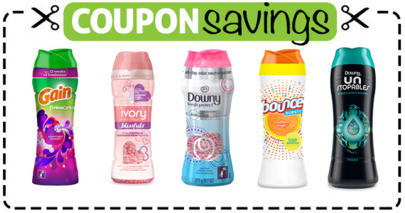 Save $2 on Downy, Gain or Bounce Scent Boosters