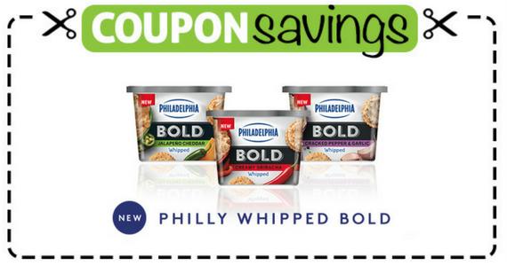 Save 50¢ on Philadelphia Whipped BOLD Cream Cheese