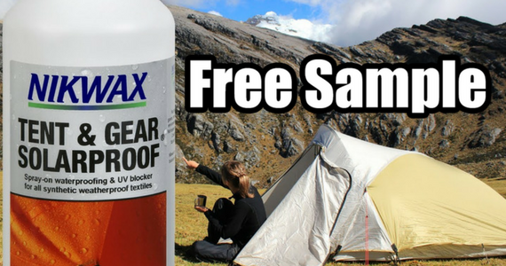 Free Sample of Nikwax Tent & Gear Solarproof