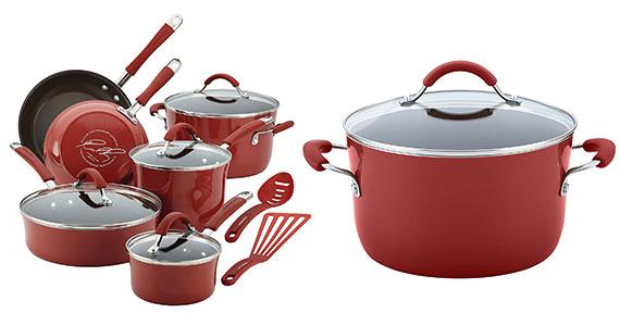 Win a Rachael Ray 12-Piece Nonstick Cookware Set