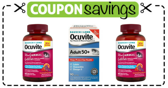 Save $3 on Ocuvite Eye Vitamin and Mineral Support