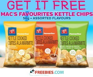 Free Favourites Kettle Chips from Circle K