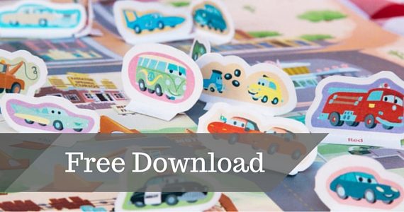 Free Disney Printable Cars Playset