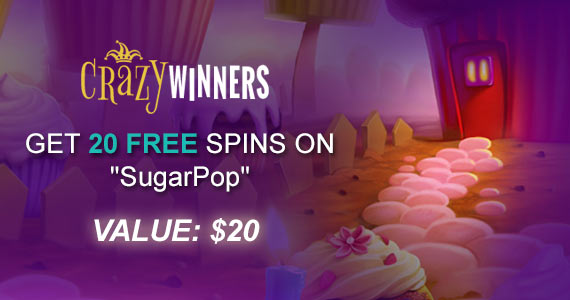 Get 20 Free Spins To Win With SugarPop