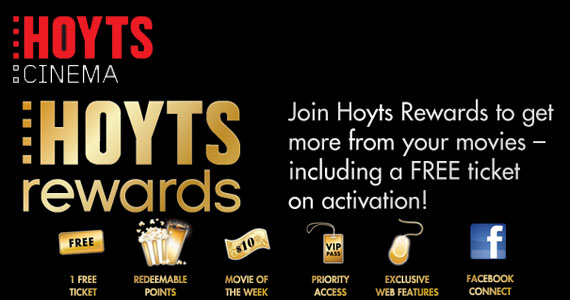 Free Movie when You Join Hoyts Rewards