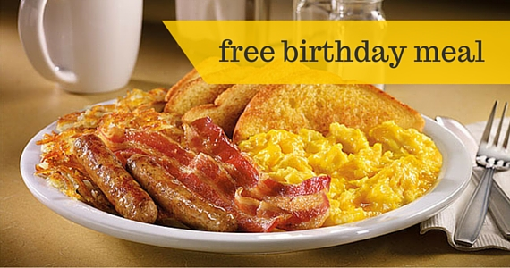Dine For Free at Denny's On Your Birthday