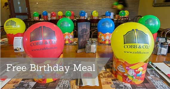 Get a Free Birthday Meal from Cobb & Co.