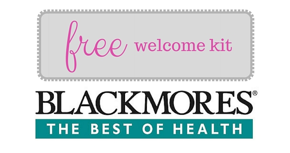 Free Blackmores Welcome Kit