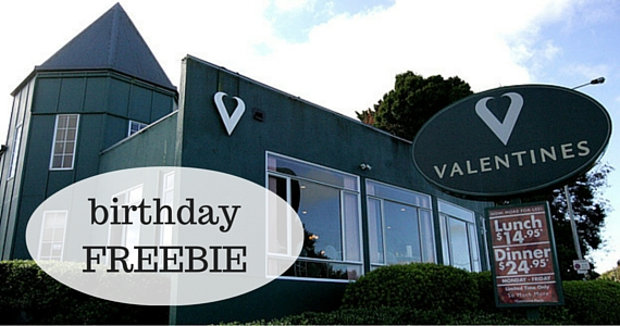 Dine for Free on Your Birthday at Valentines