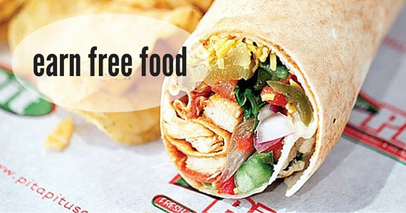 Earn Free Food from Pita Pit