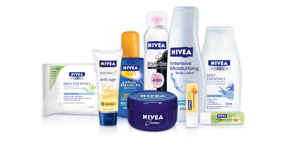 Register with Nivea for Product Trials and Free Samples