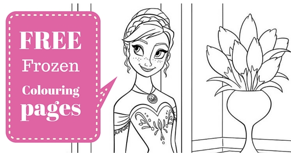 Free Frozen Colouring Pages