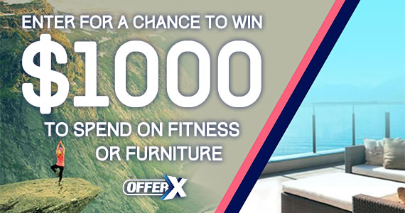 Win $1000 to Spend on Fitness or Furniture