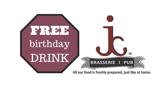 Get A Free Drink with Your Birthday Meal at JC Brasserie