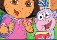 Puzzle de Dora en la escuela