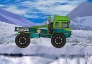 Carrera de camiones invernal