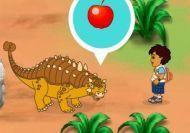 Diego ayudando a los dinosaurios