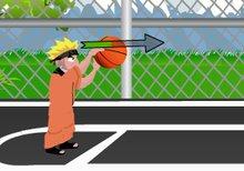 Imagen del juego: Naruto jugando al baloncesto