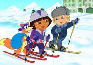 Puzzle de Dora la exploradora nevando