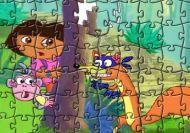 El puzzle de Dora la Exploradora y Botas 5: El zorro ladrón