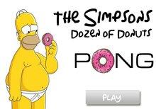 Imagen del juego: El pong de la docena de donuts de los Simpson