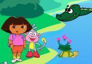 Dora y Botas en el lago de los cocodrilos