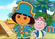 La busca del tesoro del barco pirata de Dora la Exploradora