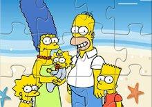 Puzzle de los Simpson en la playa