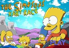 La carrera de karts de los Simpson