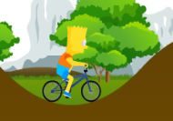 Imagen del juego: Bart Simpson en bicicleta