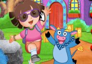Viste a Dora y al cerdito Benny
