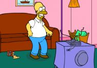 Homer Simpson Saw Game