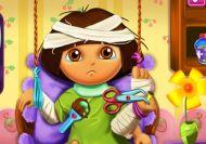Imagen del juego: Dora y su recuperación en el hospital