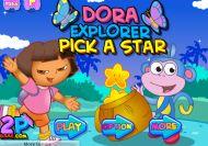 Dora la exploradora cogiendo estrellas